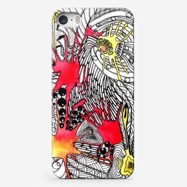 Чехол iPhone «Космическая дудл-абстракция»