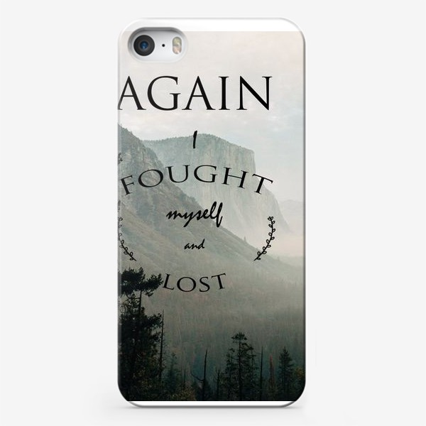 Чехол iPhone «Screamworks. I fought myself and lost»