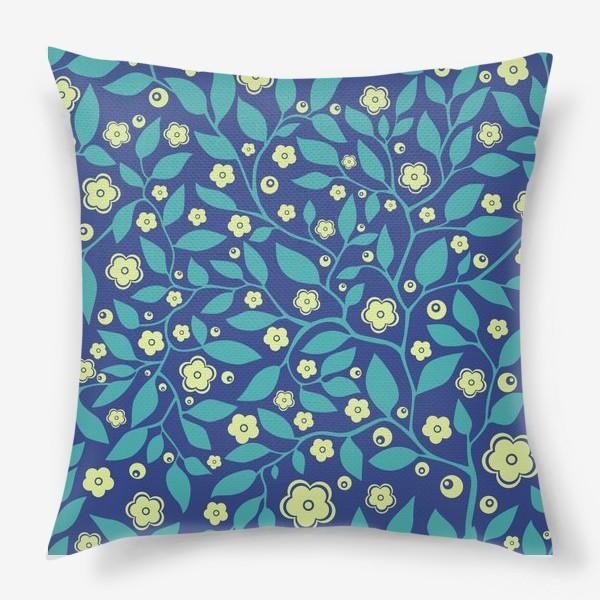 Подушка «Абстрактные цветочки»