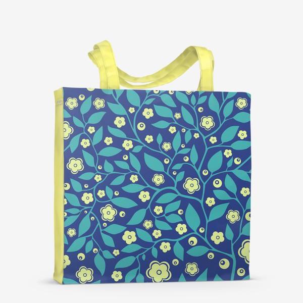 Сумка-шоппер «Абстрактные цветочки»