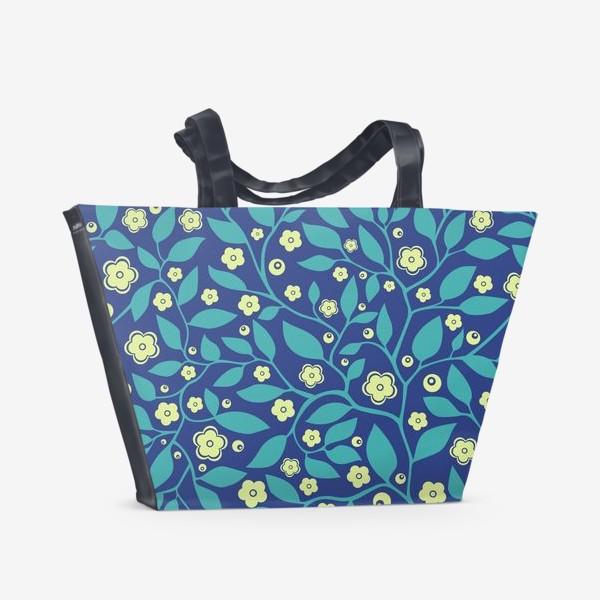Пляжная сумка «Абстрактные цветочки»