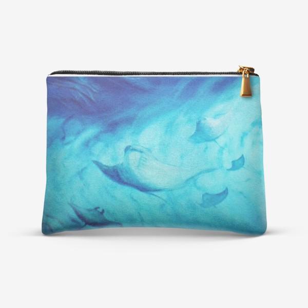 Косметичка «Скаты, подводный мир»