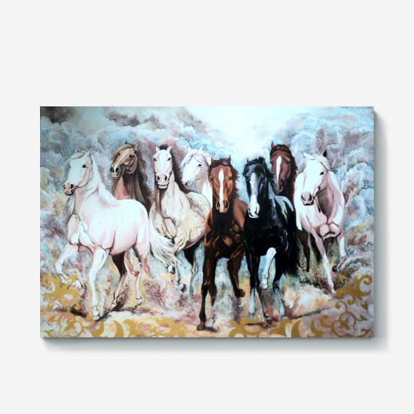 Холст «Табун лошадей»