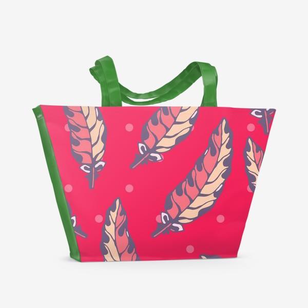 Пляжная сумка «Бохо перья»