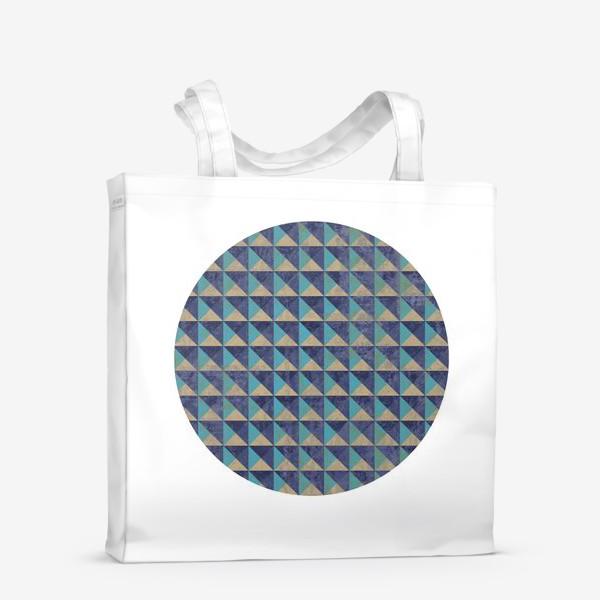 Сумка-шоппер «Квадрат в круге холодная геометрия»