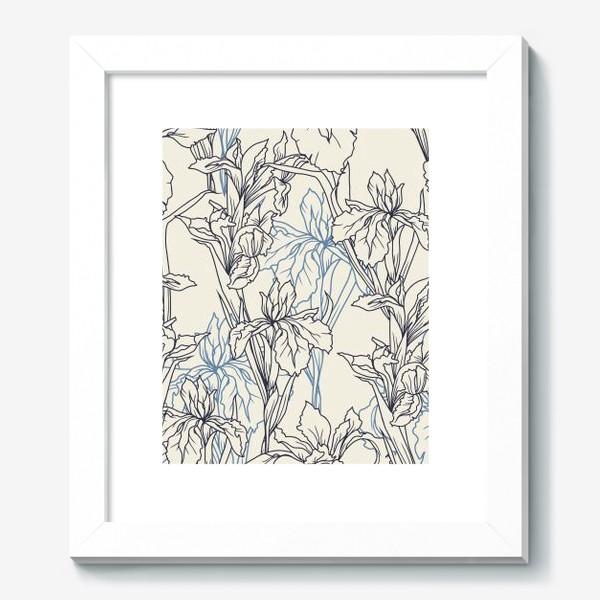 Картина «Паттерн с ирисами в стеле прованс»