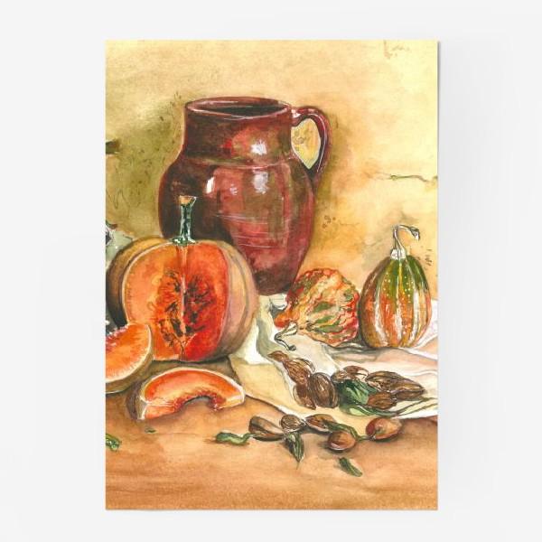 Постер «натюрморт с тыквой»