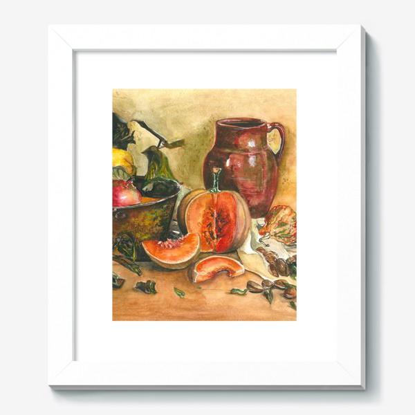 Картина «натюрморт с тыквой»