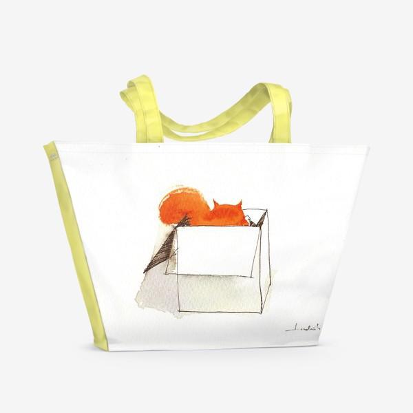 Пляжная сумка «Толстый рыжий пушистый любимый Кот»