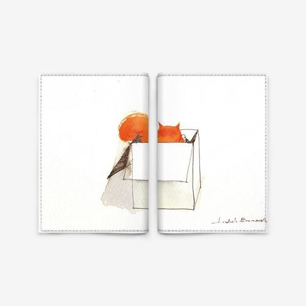Обложка для паспорта «Толстый рыжий пушистый любимый Кот»