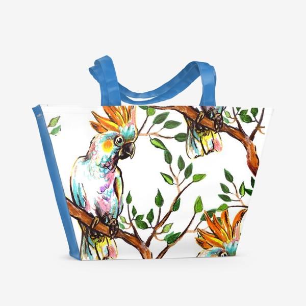 Пляжная сумка «какаду»