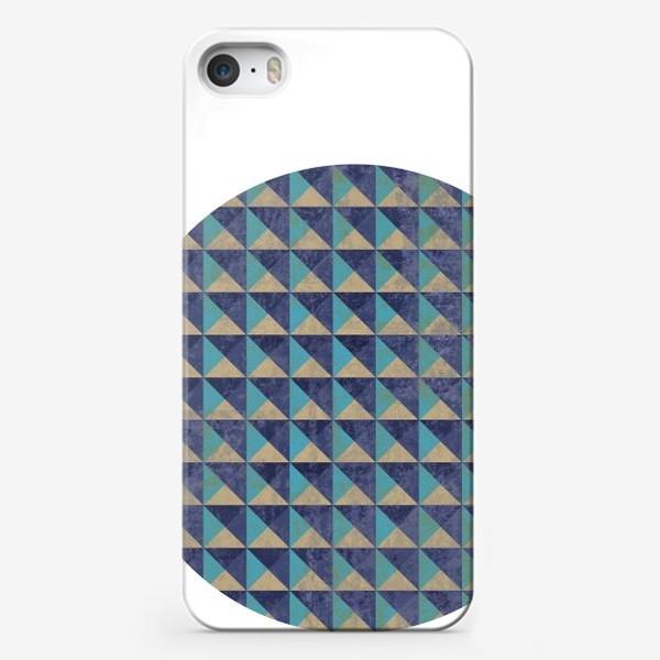 Чехол iPhone «Квадрат в круге холодная геометрия»