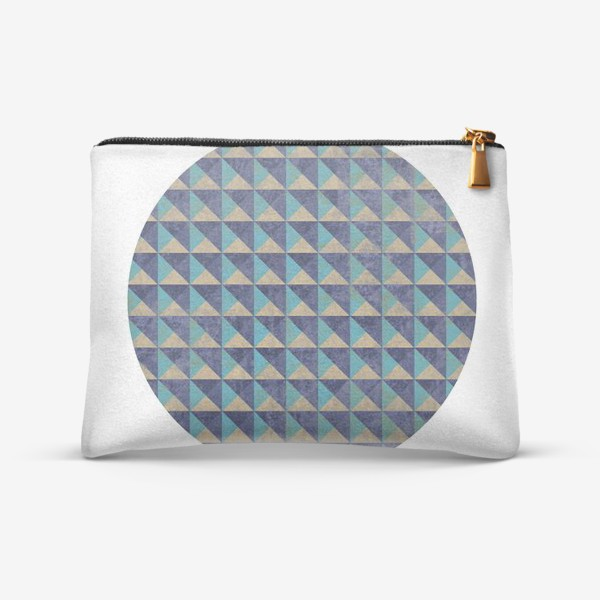 Косметичка «Квадрат в круге холодная геометрия»