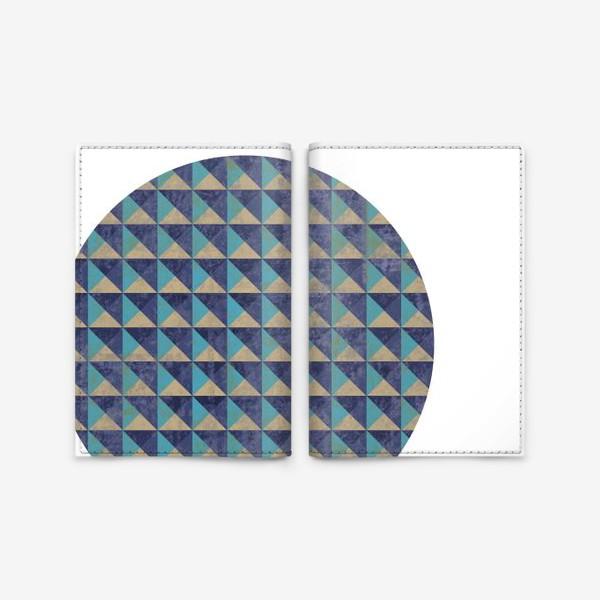 Обложка для паспорта «Квадрат в круге холодная геометрия»