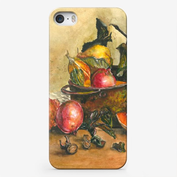Чехол iPhone «натюрморт с тыквой»