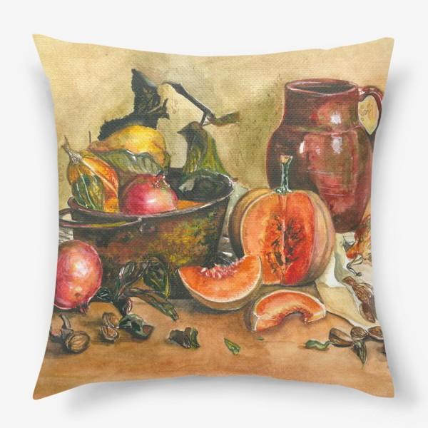 Подушка «натюрморт с тыквой»