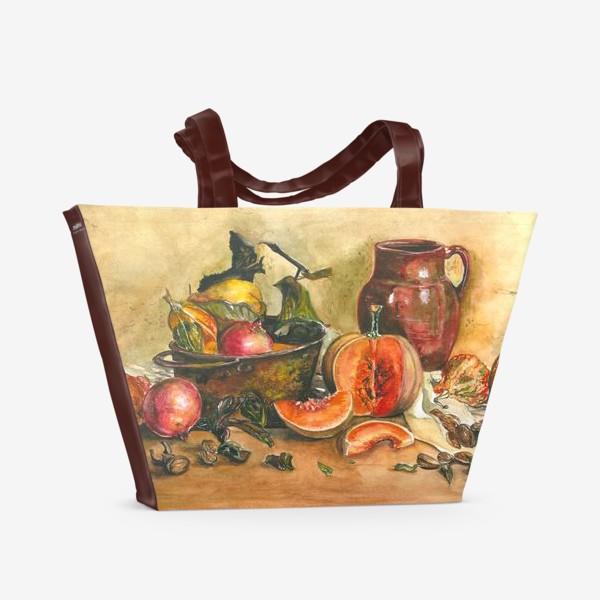 Пляжная сумка «натюрморт с тыквой»