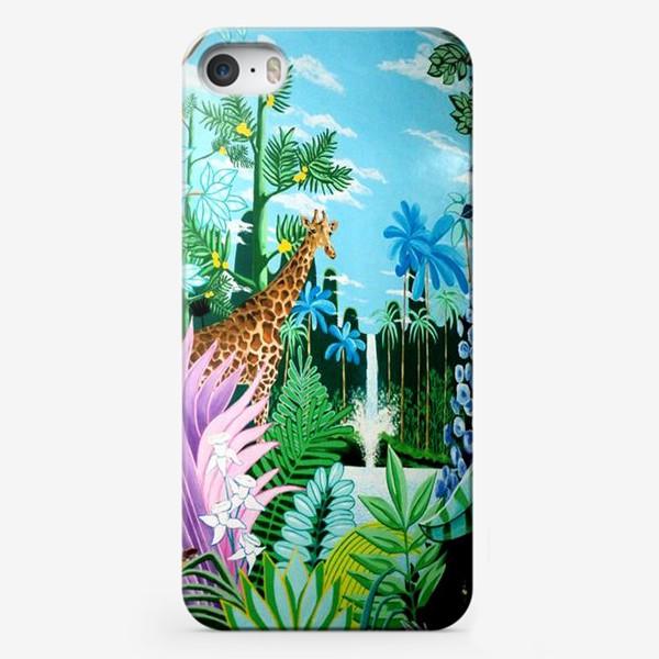 Чехол iPhone «Джунгли, жираф, пантера»