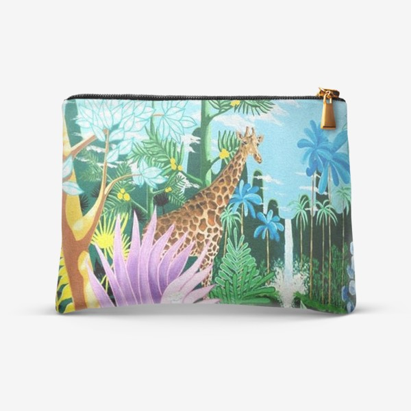 Косметичка «Джунгли, жираф, пантера»