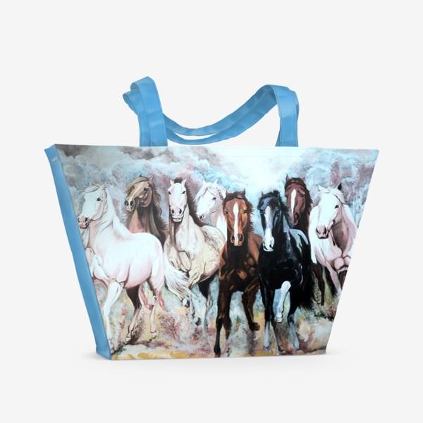 Пляжная сумка «Табун лошадей»