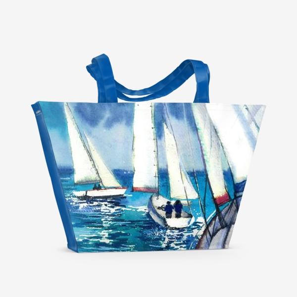 Пляжная сумка «Парусники»