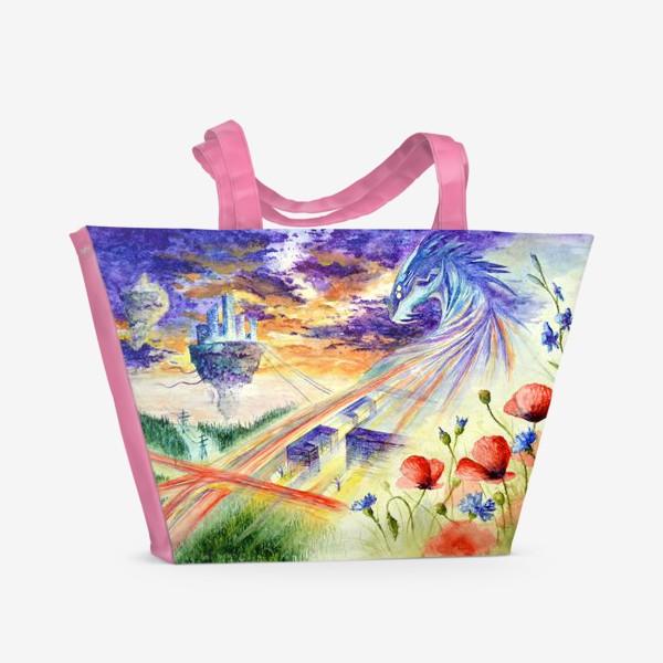 Пляжная сумка «Дракон - маршруты и адреса»