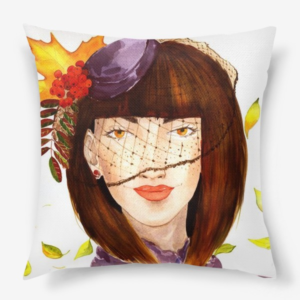 Подушка «Девушка-Осень»