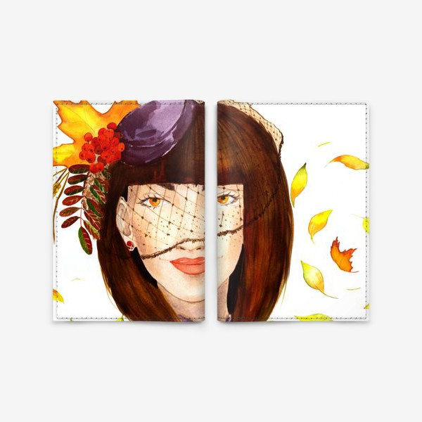 Обложка для паспорта «Девушка-Осень»