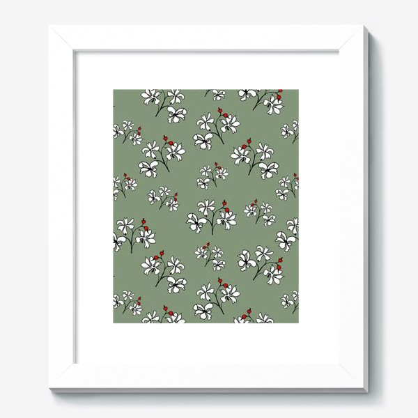 "Картина «Паттерн ""Белые цветы""»"