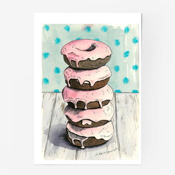 Постер «Розовые пончики»