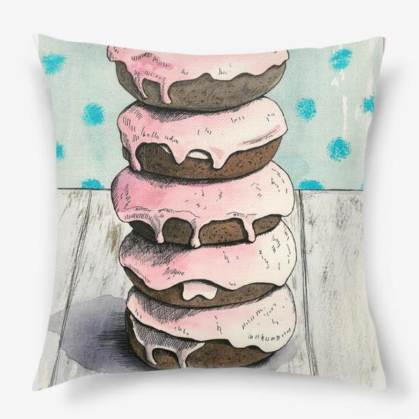 Подушка «Розовые пончики»