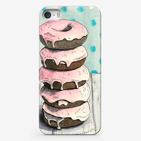 Чехол iPhone «Розовые пончики»