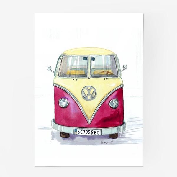 Постер «Автобус любимый VW»