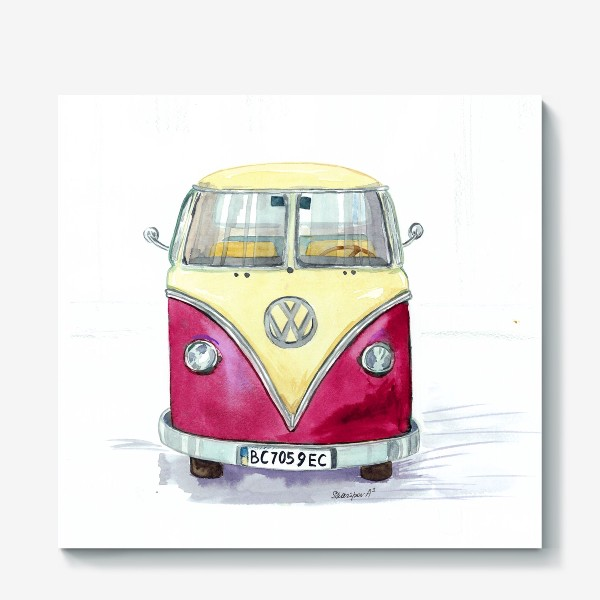 Холст «Автобус любимый VW»