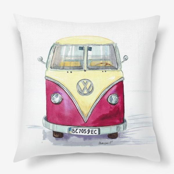 Подушка «Автобус любимый VW»