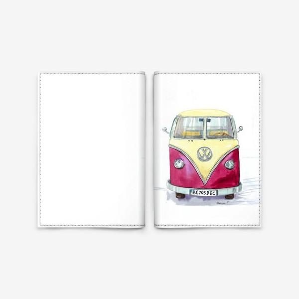 Обложка для паспорта «Автобус любимый VW»