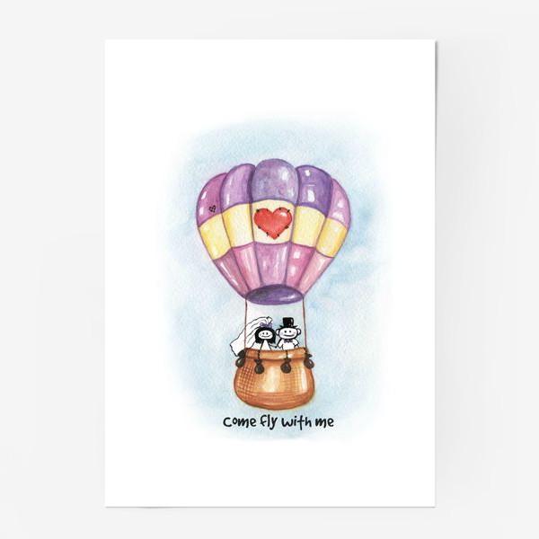 Постер «Воздушный шар Come fly with me»