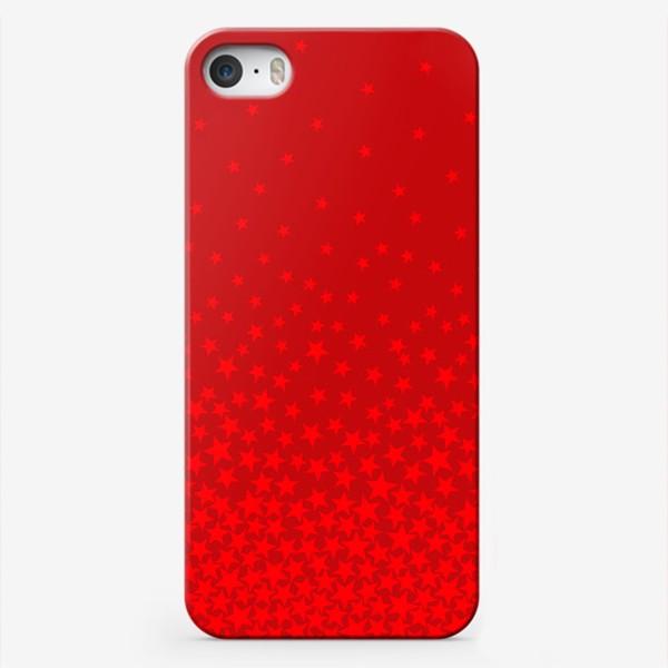 Чехол iPhone «красные звезды»