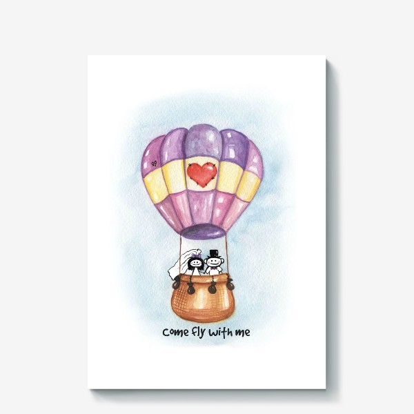 Холст «Воздушный шар Come fly with me»