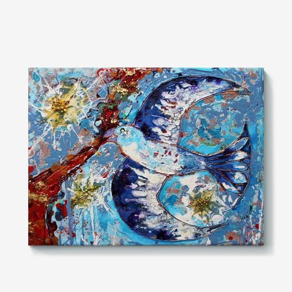 Холст «Синяя птица счастья»