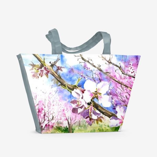 Пляжная сумка «Цветущая вишня»