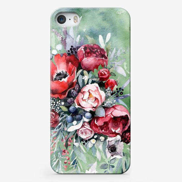 Чехол iPhone «Ассиметричный букет»