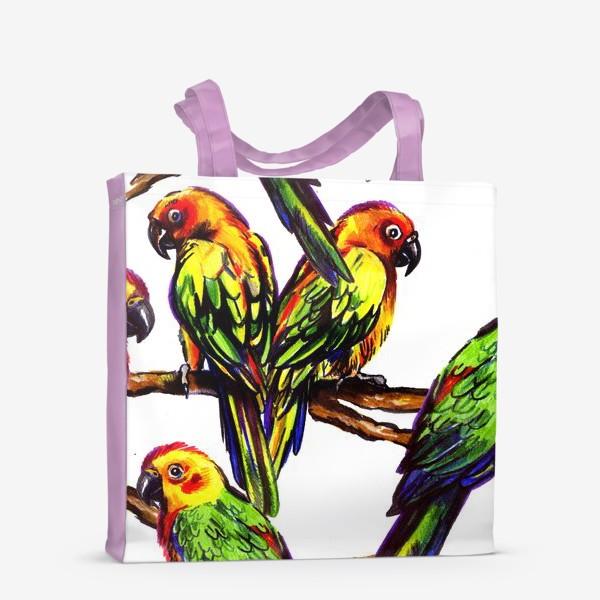 Сумка-шоппер «попугаи»
