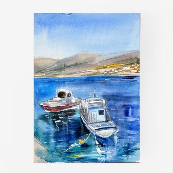Постер «Морской пейзаж с лодками»