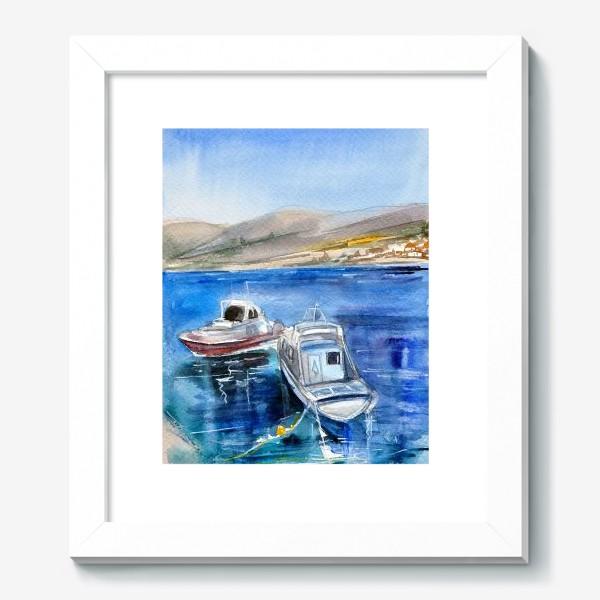 Картина «Морской пейзаж с лодками»