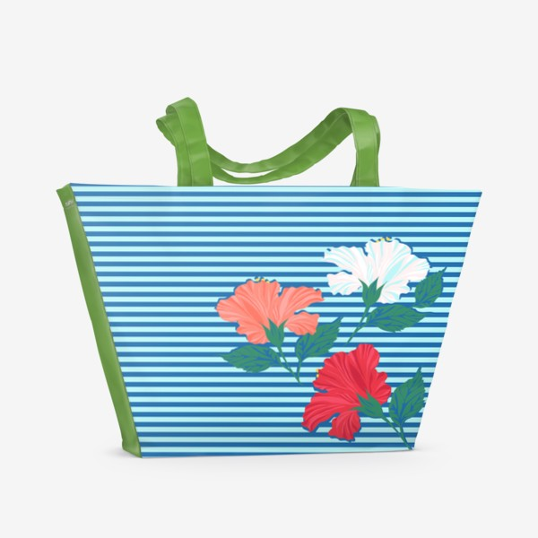 Пляжная сумка «Гибискус»