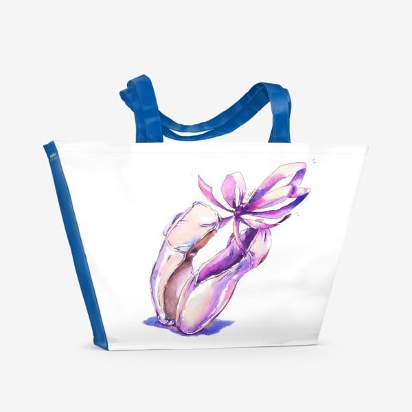Пляжная сумка «Танцующие пуанты»