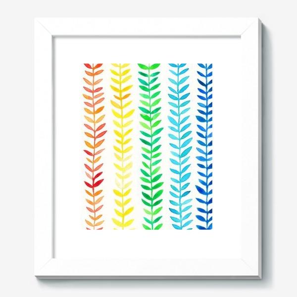 Картина «Радуга из листьев»