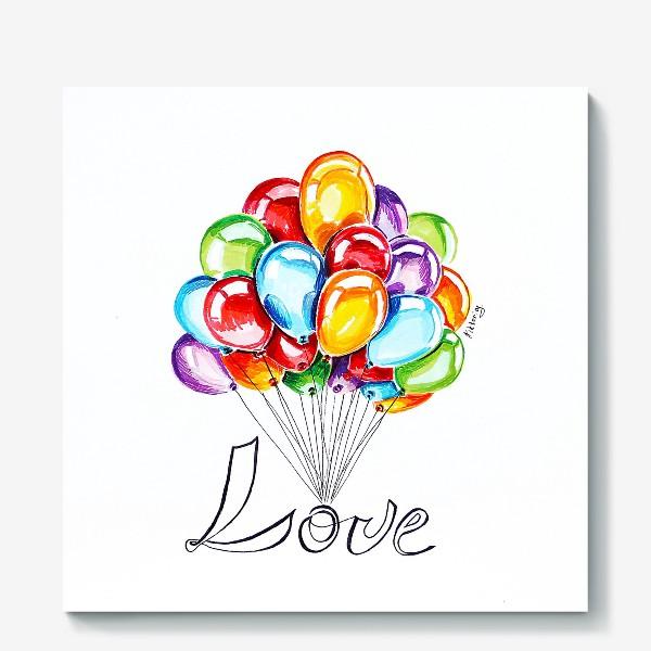 Холст «Воздушные шары»