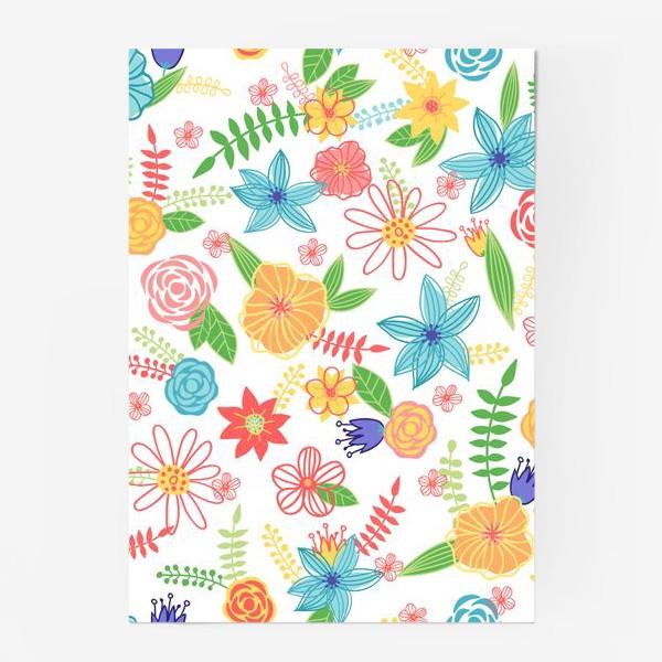 Постер «Летний цветочный паттерн»